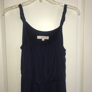 LOFT Navy Dress Sleeveless Sz S